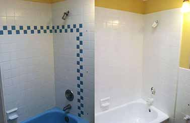 We specialize in bathroom and shower tile reglazing for customers in Northern NJ