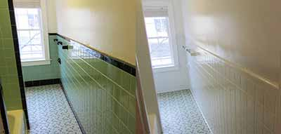 Do you have old, worn tiles? Make them new again with professional tile reglazing for bathrooms and showers. We offer bathroom tile resurfacing in Bergen, Essex, Hudson, Middlesex, Monmouth, Morris, Passaic, Somerset, and Union counties in New Jersey.